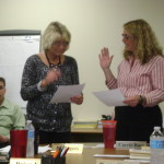 Carrie Buss sworn in by RJ Rogers