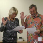 Dan Berkos sworn in by RJ Rogers