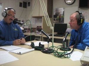 Mark Rudig and Jim Murphy talk on air on Now92one FM